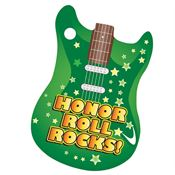 "Honor Roll Rocks! Award Tag With 4"" Chain"