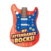 "My Attendance Rocks Tag With 4"" Beaded Chain"