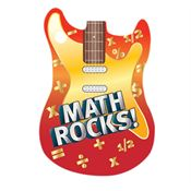 Math Rocks! Laminated Tag With 4