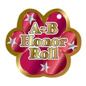 "A-B Honor Roll Red Paw Award Tag With 4"" Chain"