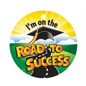 I'm On The Road To Success Laminated Award Tag With 4