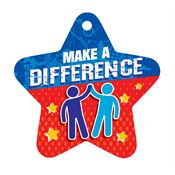 Make A Difference Laminated Award Tag With 4