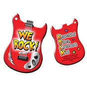 "We Rock!  Laminated Tag With 4"" Chain"