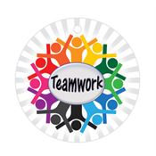 Teamwork Laminated Award Tag With 4