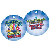 "Success Begins With Believing You Can Laminated Tag With 4"" Chain"