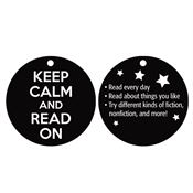 "Keep Calm And Read On Tags With 4"" Chain"