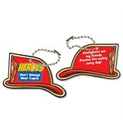 "Heroes Don't Always Wear Capes Laminated Tag With 4"" Chain"