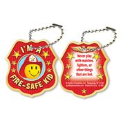 "I'm A Fire-Safe Kid Laminated Tag With 4"" Chain"