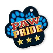 "Paw Pride Laminated Award Tag With 4"" Chain"