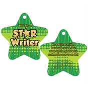 "You're A Star Writer Laminated Tag With 4"" Chain"
