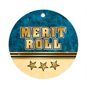 "Merit Roll Laminated Tag With 4"" Chain"