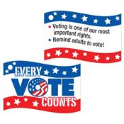 "Every Vote Counts Tag With 4"" Chain"