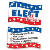 "I Elect To Read! Laminated Tag With 24"" Chain"