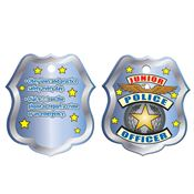 "Junior Police Officer Laminated Tag With 24"" Chain"