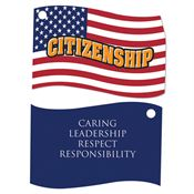Citizenship Laminated Award Tag With 4