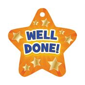 Well Done! Laminated Award Tag With 4