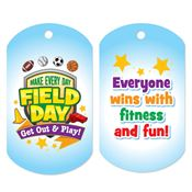 Make Every Day Field Day: Get Out And Play! Award Tag With 4
