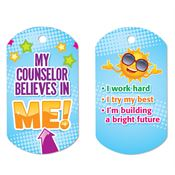 My Counselor Believes In Me! Laminated Award Tag With 24