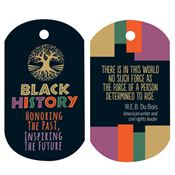 Black History: Honoring The Past, Inspiring The Future Laminated Tag With 4