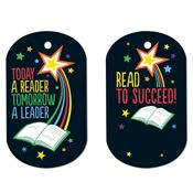 Today A Reader, Tomorrow A Leader Laminated Award Tag With 4