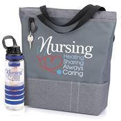 Nursing: Healing, Sharing, Always Caring Yale Tote & Fresno Fruit Infuser Water Bottle Combo