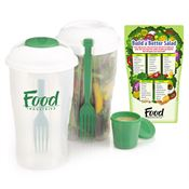 3-Piece Salad Shaker & Magnet Combo - Personalization Available