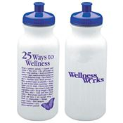 25 Ways To Wellness Water Bottle20-oz.  - Personalization Available