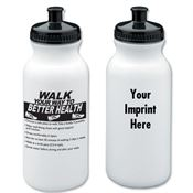 Walk Your Way To Better Health Water Bottle 20-oz. - Personalization Available