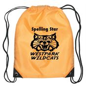 Durable Kid's Drawstring Backpack With Leather Reinforced Corners - Personalization Available