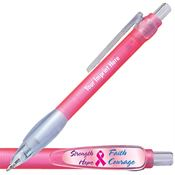 Strength / Hope / Faith / Courage Pink Paddle Clip Pen - Personalization Available