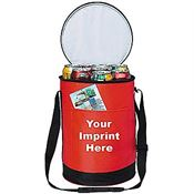 Round Cooler Bag With Double Zipper Closure - Personalization Available