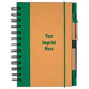 Earth Friendly Eco Jotter & Pen With Recycled Notebook - Personalization Available