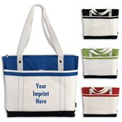 Windjammer Tote With Large Main Compartment & Zippered Closure - Personalization Available