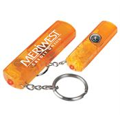 Whistle, Light, And Compass Key Chain - Personalization Available