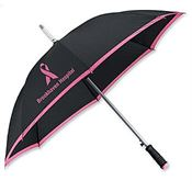 "Lightweight Polyester Color-Accented Arc-Edge 46"" Umbrella - Personalization Available"