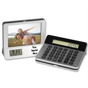 Calculator/Picture Frame/LCD Digital Clock - Personalization Available