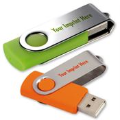 4GB Folding USB 2.0 Flash Drive - Personalization Available