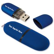 4GB Oval USB 2.0 Flash Drive - Personalization Available