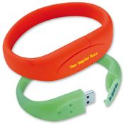 4GB Bracelet USB 2.0 Flash Drive - Personalization Available