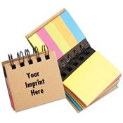 Mini Spiral Sticky Notes & Flags - Personalization Available