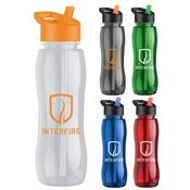 Poly-Pure Bottle With Flip Straw Lid 25-oz. - Personalization Available