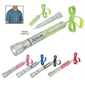 Flashlight & Light-Up Pen On Lanyard - Personalization Available