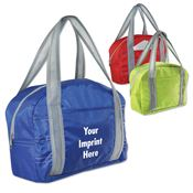 Stylish City Style Lunch Bag With Gray Zipper Closure - Personalization Available