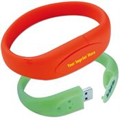 8GB Bracelet USB 2.0 Flash Drive - Personalization Available