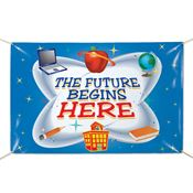 The Future Begins Here 6' x 4' Vinyl Banner