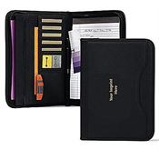 Deluxe Executive Padfolio With Stylish Curved Outside Pocket - Personalization Available