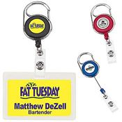 Round Carabiner Badge Holder - Personalization Available
