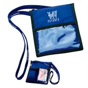 Nylon Badge Holder Pouch with Lanyard - Personalization Available