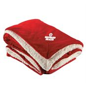 Embroidered Microfleece Sherpa Blanket With Holiday Wrap - Personalization Available