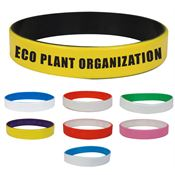 Colored Letter Laser Engraved Silicone Bracelet - Personalization Available